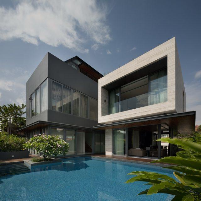 Casa moderna e a decoração